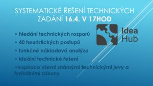 """Zájmová přednáška """"Systematické řešení technických zadání"""""""